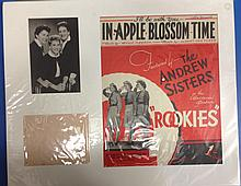 ANDREWS SISTERS AUTOGRAPHS IN PRESENTATION