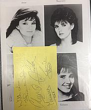 THE NOLANS A FULLY SIGNED PAGE