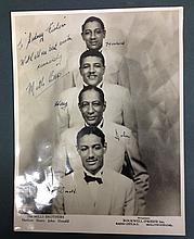 THE MILLS BROTHERS FULLY SIGNED PHOTOGRAPH