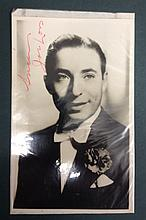 JOE LOSS A SIGNED PHOTOGRAPH/POSTCARD