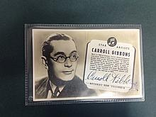 CARROLL GIBBONS A SIGNED POSTCARD