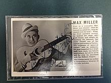 MAX MILLER SIGNED PHOTO POSTCARD