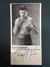 BOXING BARRY MCGUIGAN A SIGNED PHOTO
