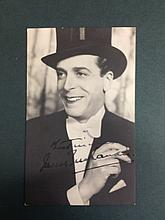 JACK BUCHANON A SIGNED POSTCARD