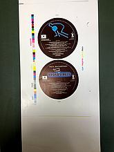 PAUL MCCARTNEY ORIGINAL RARE PROOF LABELS FOR BROAD STREET