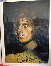 THE WHO ROGER DALTREY AN ORIGINAL PRINT BY JAMES WILKINSON