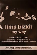 LIMP BIZKIT RARE UK SINGLE POSTER FOR MY WAY