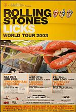 ROLLING STONES 2003 RARE FORTY LICKS POSTER
