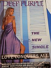 DEEP PURPLE POSTER LOVE CONQUERS ALL POSTER