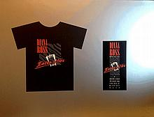 DIANA ROSS PRODUCTION ARTWORK T SHIRT AND INVITE TO MAXIMS