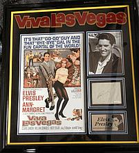 ELVIS PRESLEY ORIGINAL SIGNATURE DISPLAY