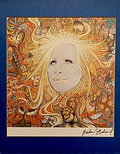 BARBRA STREISAND SIGNED PRINT OF ALBUM ARTWORK