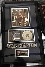 ERIC CLAPTON SIGNED CD DISPLAY