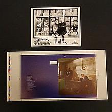 Pet Shop Boys signed b/w photo & original proof