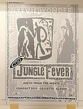 STEVIE WONDER ORIGINAL PRODUCTION ARTWORK FOR JUNGLE FEVER
