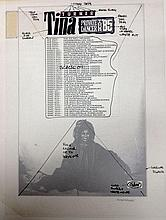 TINA TURNER RARE ORIGINAL PRODUCTION ARTWORK FOR PRIVATE DANCER TOUR POSTER