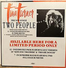 TINA TURNER AN IN-STORE STRUTTED BOARD ADVERTISING TWO PEOPLE