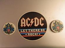 AC/DC Vintage Badges/buttons and sticker