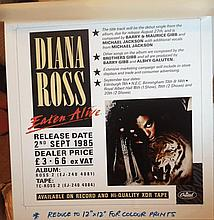 DIANA ROSS THE ORIGINAL PRODUCTION ARTWORK FOR EATEN ALIVE IN STORE DISPLAY