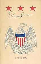 Reagan, Ronald: Autographed Republic Citizens Finance Committee programme, signed
