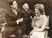 A small collection of Royal photographs showing the Prince and Princess of Wales with Prince William at Kensington Palace