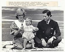 Kent Gavin photograph of the Prince and Princess of Wales with Prince William