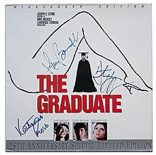 Graduate, The: Cast autographed LaserDisc cover, signed