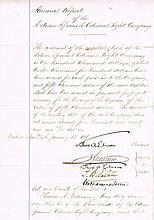 Edison, Thomas: Autographed document, signed