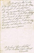 Wellington, Duke of: Handwritten note dated December 1841