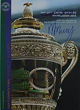 Murray, Andy Autographed Wimbledon final programme, signed