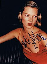 Moss, Kate: Autographed photograph, signed