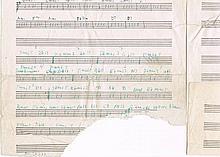 Coltrane, John: Original musical manuscript
