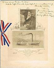 Clemens, Samuel L (Mark Twain): Autograph on pamphlet, signed