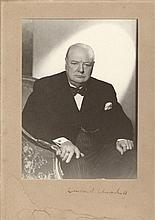 Churchill, Winston: Autographed photograph, signed