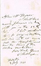 Babbage, Charles: Autographed letter, signed