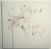 Doherty, Pete: Original blood painting + photo
