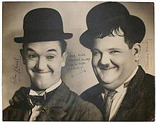 Laurel, Stan and Hardy, Oliver: Autographed photograph, signed by both