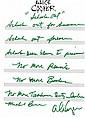 COOPER, ALICE autographed handwritten lyrics