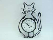 Westclox Metal Rod Cat Wall Clock
