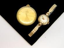 Vintage Elgin Pocketwatch & Gold Filled 17 Jewel Revere Watch