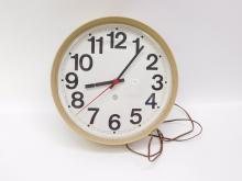 Vintage Peter Pepper Industrial School Electric Wall Clock Lanshire Movement