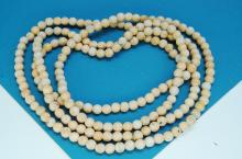 Fossilized Mammoth Ivory Bead Necklace