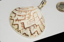Sterling Silver Natural Exotic Shell Pendant