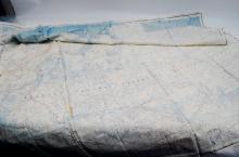 Vintage USAF Khatanga River Silk Cloth Map