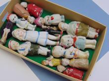 Vintage Bisque Or Porcelain Doll Lot Of 14