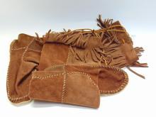 Handstitched Leather Calf Length Moccasins