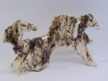 Native American Horsehair Running Horses Figurine