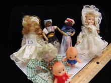 Small Vintage Doll Lot Of 7