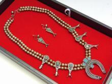 Nickel Silver Naja Squash Blossom Necklace