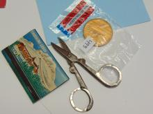 Mint Medallion Mt Hood Match Book & Scissors Lot